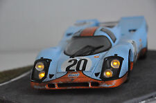 CODEX Finish Line + NIGHT VERSION Gulf PORSCHE 917 #20 Le Mans 71  Norev 1:18