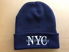 New York Winter Hat ,beanie .Dark blue color .Unisex.Man/Women