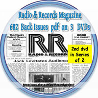 3 Dvds Radio & Records Magazine 682 Back Issues  2nd in a Series of 2