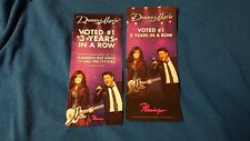 2x Donny & and Marie Osmond Las Vegas Show Flamingo Hotel Flyer Casino Ad Card