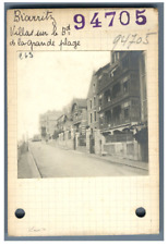 France, Biarritz, Villas sur le Bd. de la Grande Plage  Vintage silver print. Pr