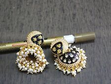 Superb Various Colour Enamel CZ Pearl Polki Filigree Long Jumkha  Earring