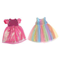 2 Pieces American Doll Dress 18 Inch Girl Doll Daily Clothing Accessory