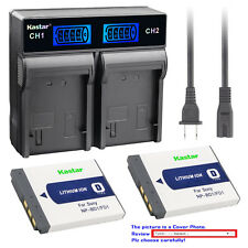 Kastar Battery LCD Rapid Charger for Sony Original NP-BD1 NP-FD1 & BC-CS3 BC-CSD