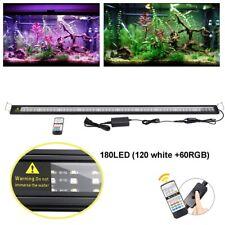 "48 Inch Aquarium Light Fish Tank Rgb 180 Led Lighting Timer Remote Control 48"""