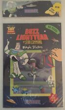 Neuf Disney Toy Story Buzz Lightyear Star Command UNISET Magique Réutilisable Stickers