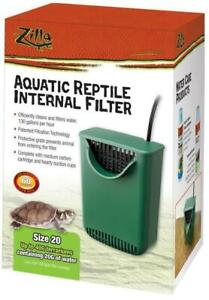 Zilla Internal Filter for Aquactic Reptiles, For Up To 20 Gallons