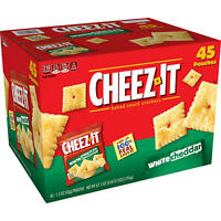 Cheez-It White Cheddar Snack Packs (1.5 oz., 45 pk.) FREE N FAST SHIPPING