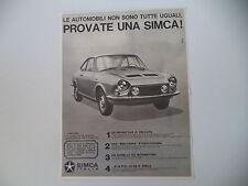advertising Pubblicità 1969 SIMCA 1200 S COUPE'
