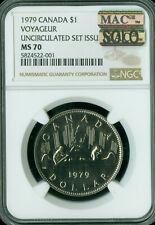 1979 CANADA DOLLAR NGC MS-70 MAC SOLO FINEST GRADED VERY RARE MAC SPOTLESS .