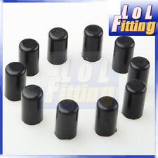 "10pcs 10mm 3/8""Silicone Blanking Caps Intake Vacuum Hose End Bung Plug Cap Black"