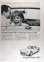 1965 TRIUMPH SPITFIRE MK2 ROADSTER Lot of (4) Authentic Vintage Ads MSRP $2,199
