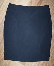 PORTMANS 12/10 BLACK or GREY??? w PALE GREY PINSTRIPE TAPERED STRAIGHT SKIRT