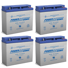 Power-Sonic 12V 18AH SLA Battery Replacement for APC Smart-UPS SUA1500I - 4 Pack