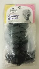 Vintage Coiffure Bonnet! (Black and White!) Unique old hard to find retro Item!