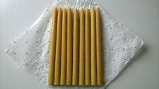 100% naturel, cire d'abeille pure bougies classique, haute qualité, 20 unités