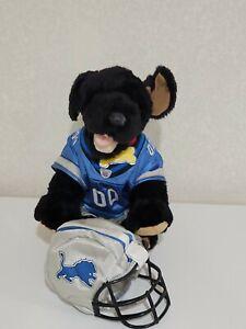 Build A Bear NFL DETROIT LIONS Football Uniform & Helmet Plush Barking Dog noise