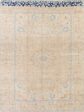 Antique One-of-a-Kind 9x13 Muted Oriental Hand-Knotted Wool Over-Dye Rug