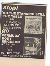 THE TABLE / ROKY ERIKSON press clipping 1977 (6/8/77) 9X10cm