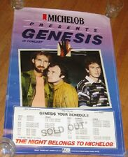 "GENESIS IN CONCERT ORIGINAL VINTAGE 1986 MICHELOB PRESENTS TOUR POSTER 30"" x 20"""