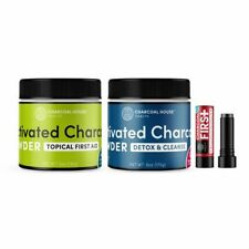 Activated Charcoal 3 pc. Set - First Aid 5oz., Detox&Cleanse 6oz., Salve Stick