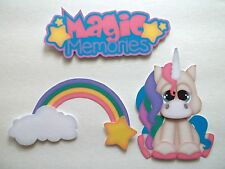 3D - U Pick - CM1 Princess Castle Knight Unicorn Scrapbook Card Embellishment