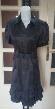 MAX & CO vestito donna misto seta/cotone antracite tg 46 (misure descrizione)
