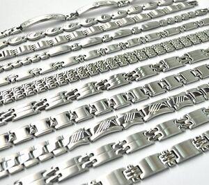 Damen Edelstahl Armband Armschmuck Armkette Silber matt glanz Diverse Edel NEU