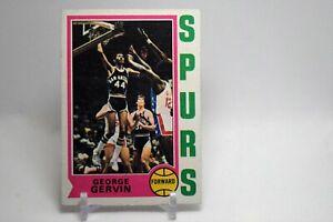 1974 Topps #196 George Gervin  ROOKIE CARD - HOF - SPURS
