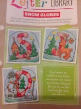 (X6) Festive Snow globes Alphabet ABC Numbers Christmas Cross Stitch Chart
