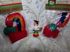 Lot 3 Vtg KURT S ADLER Rainbow Christmas Ornament NOS Russ Decoration Angel Mitt