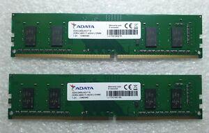 Adata AD4U2400J4G17-S 8GB 2x4GB PC4-19200 2400MHz UDIMM Memory Ram DDR4 Pc
