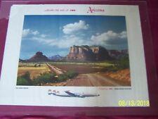 Aong The Way of TWA ARIZONA - OAK CREEK CANYON orig.1955 Airline Travel Poster
