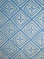 "China Seas ""Fiorentina"" French Blue On White Cotton/Linen. 1.5 yards."