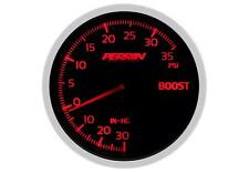 Perrin Boost Gauge (60mm, Black Face, Vac - 35psi) I ASM-GAU-001