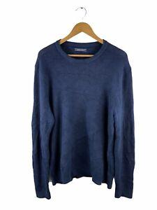 VINTAGE Tommy Hilfiger Heavy Knit Pullover Mens Size 2XL Blue Jumper Cotton Wool