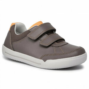CLARKS Emery Sky K Boys Infant Brown Leather Shoes UK Size 10 - 12 1/2 F, G, H