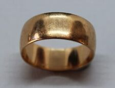 ANTIQUE 9CT YELLOW GOLD WEDDING BAND RING SIZE L