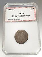 1875-S Seated Liberty Twenty Cent Piece Rare Coin