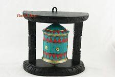 """6.5""""Tibetan,Wall Hanging Prayer Wheel,Turquoise Coral Tibetan Prayer,thamel Mart"""