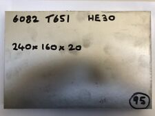 ALUMINIUM 6082 T651 SQUARE BILLET 240 x 160 x 20mm flat bar sheet plate 1/2""