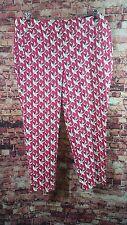 Lane Bryant The Lena Pink Biege White Trouser Pants Moderately Curvy Size 20R