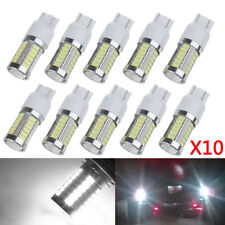 10PCS T20 White 7443 7440 5630 33-SMD LED Dome Map Car Backup Reverse Light Bulb