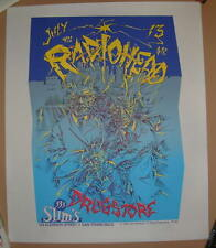 Radiohead John Seabury San Francisco Slims Poster Signed Artist Proof AP 1995