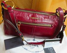 PRADA Leather Handbag Vitello Shine Bag -100% Authentic with Cards