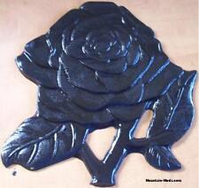 """CONCRETE Cement Plaster BORDER ART STAMP Flower Rose 12"""" Imprint MAT New"""