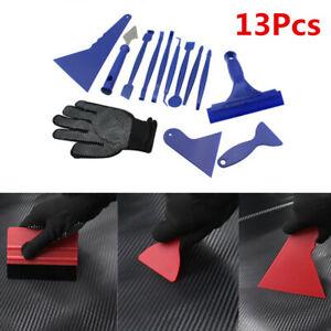 13Pcs Car Accessories Squeegee Scraper Window Film Tint Tools Kits Universal