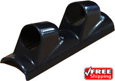 Black Universal Dual 2 Gauge Pillar Pod Holder Abs 52mm 2 Gauges