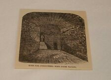 1884 magazine engraving ~ HOSE FOR CONDUCTING WINE FROM VAULTS