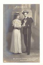 ROMANTIC COUPLE, ABSCHIED VICTORIAN CLOTHING RPPC